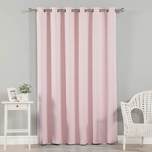 Rose Street Light Pink 80 x 96 In. Wide Width Blackout Curtain Panel