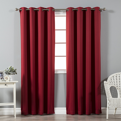Rose Street Cardinal Red 108 x 52 In. Thermal Insulated Blackout Curtain Panel