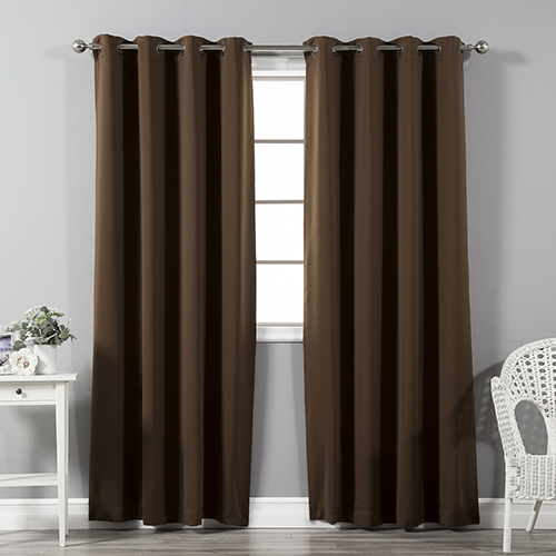 Chocolate 108 x 52 In. Thermal Insulated Blackout Curtain Panel