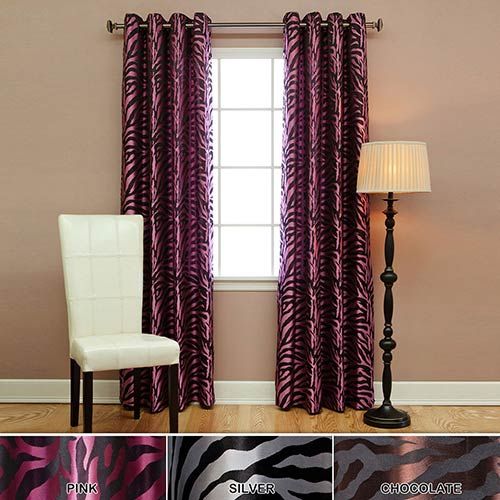 Rose Street Pink Zebra 84 x 52 In. Curtain Panel