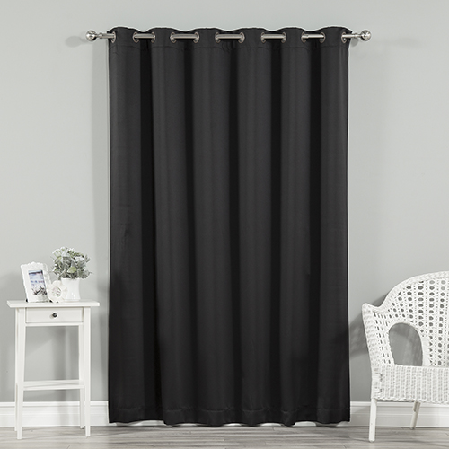 Rose Street Black 80 x 96 In. Wide With Thermal Blackout Curtain Panel