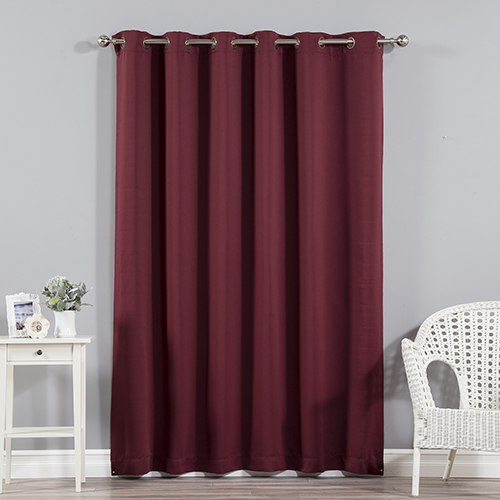 Rose Street Burgundy 80 x 96 In. Wide With Thermal Blackout Curtain Panel