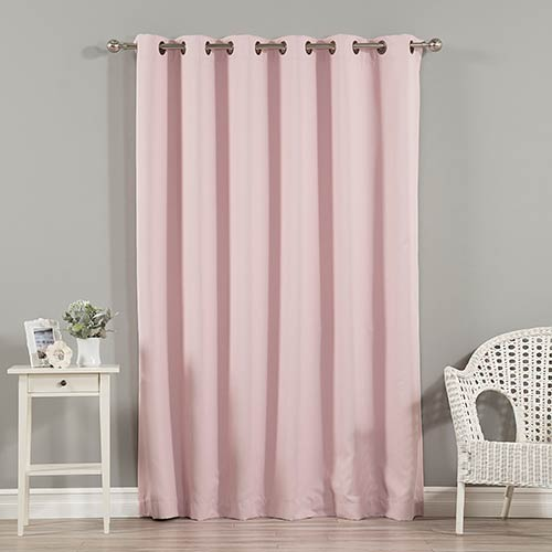Rose Street Light Pink 80 x 96 In. Wide With Thermal Blackout Curtain Panel