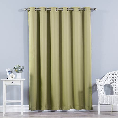 Rose Street Sage 80 x 96 In. Wide With Thermal Blackout Curtain Panel
