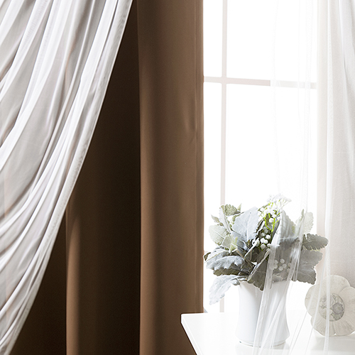 Chocolate 80 x 84 In. Blackout Window Treatments, Set of Two