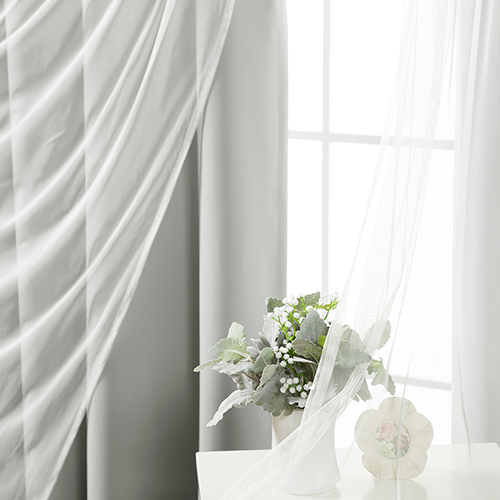 Grey 80 x 84 In. Blackout Window Treatments, Set of Two