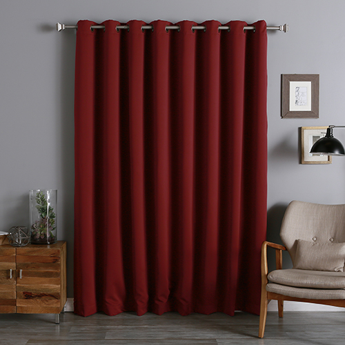 Cardinal Red 100 x 96 In. Wide With Thermal Blackout Curtain Panel