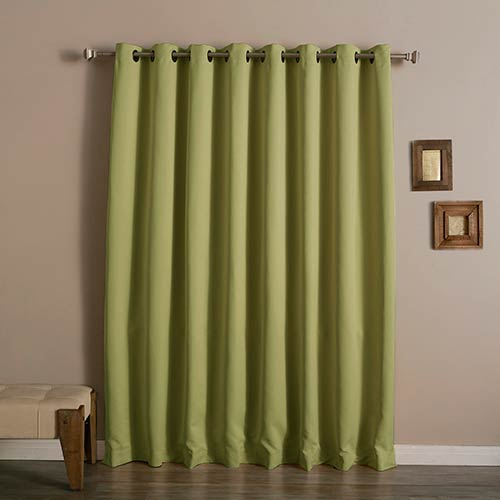 Rose Street Sage 100 x 96 In. Wide With Thermal Blackout Curtain Panel