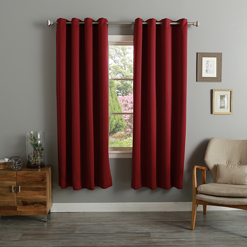Burgundy 52 x 72 In. Thermal Insulated Blackout Curtain Panel