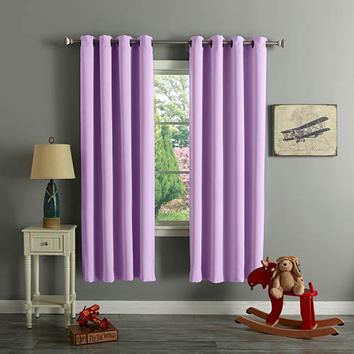 Lavender 52 x 72 In. Thermal Insulated Blackout Curtain Panel