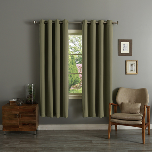 Olive 52 x 72 In. Thermal Insulated Blackout Curtain Panel