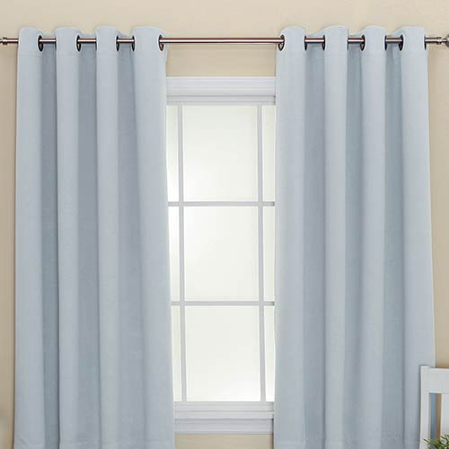 Sky Blue 52 x 72 In. Thermal Insulated Blackout Curtain Panel
