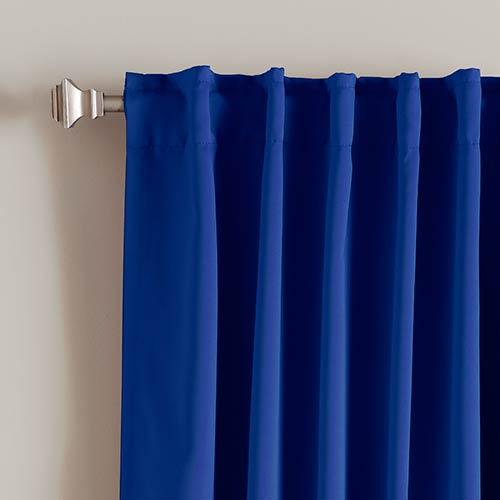 Rose Street Royal Blue 52 x 63 Curtain Panel