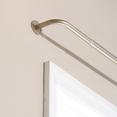Rose Street Wraparound 120 In. Bronze Curtain Rod