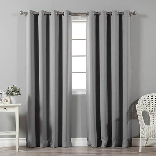 Grey 52 x 84 In. Blackout Curtain Panel