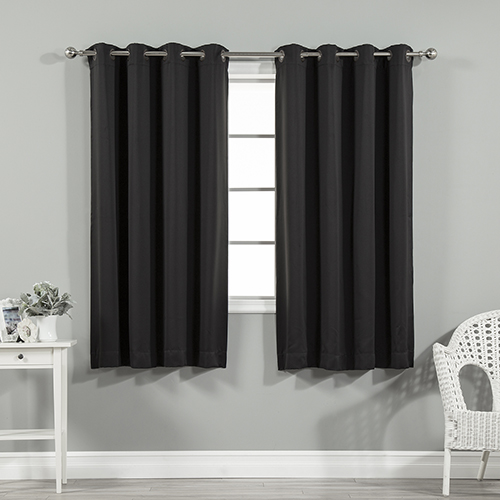 Black 52 x 63 In. Blackout Curtain Panel