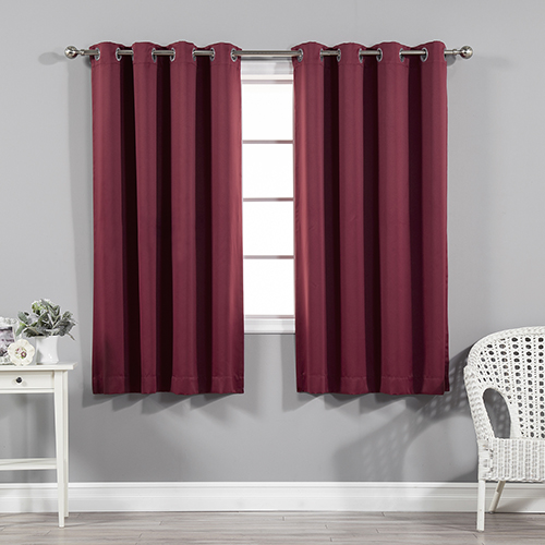 Rose Street Burgundy 52 x 63 In. Blackout Curtain Panel
