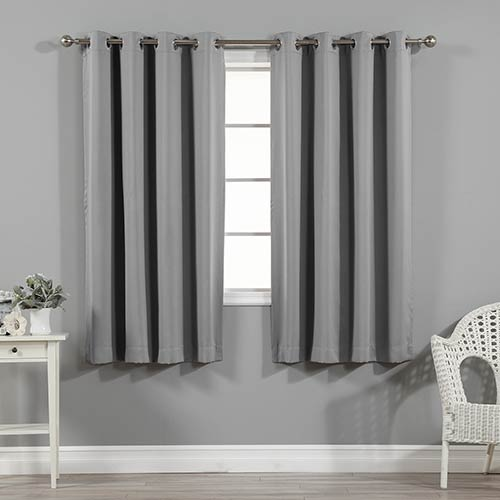 Rose Street Grey 52 x 63 In. Blackout Curtain Panel