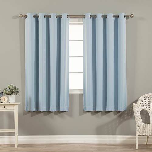 Rose Street Sky Blue 52 x 63 In. Blackout Curtain Panel