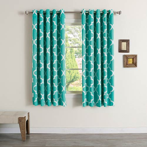Rose Street Blue Moroccan 52 x 63 In. Curtain Panel