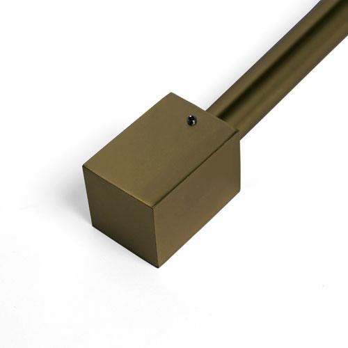 Rose Street Cuboid Brass 66 - 120 In. Single Curtain Rod