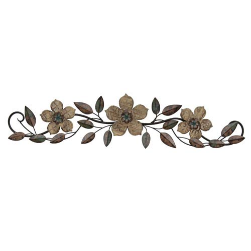 Stratton Home Décor Floral Patterned Wood Over The Door Wall Decor