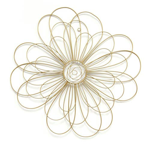 Stratton Home Décor Gold Wire Flower Wall Decor