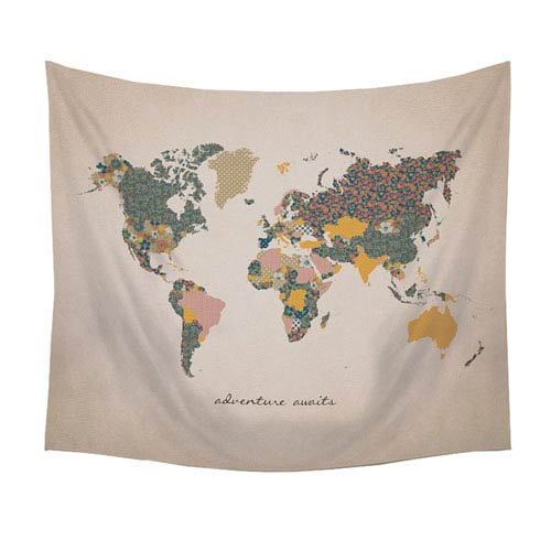 Adventure Await Map Wall Tapestry