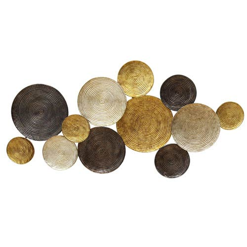 Stratton Home Décor Multicolor Circles Wall Decor