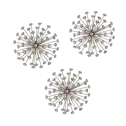 Stratton Home Décor Gold Burst Wall Décor, Set Of Three Shd0120 ...