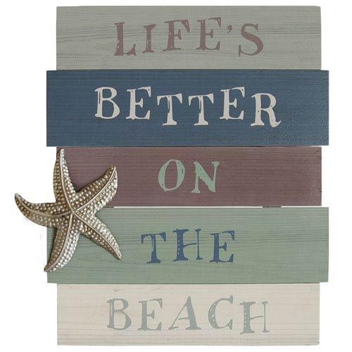Lifes Better On The Beach Wall Art
