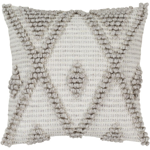 Anders Gray 18-Inch Pillow With Polyester Fill