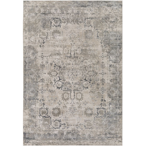Aisha Medium Gray Rectangle 5 Ft. 3 In. x 7 Ft. 3 In. Rugs