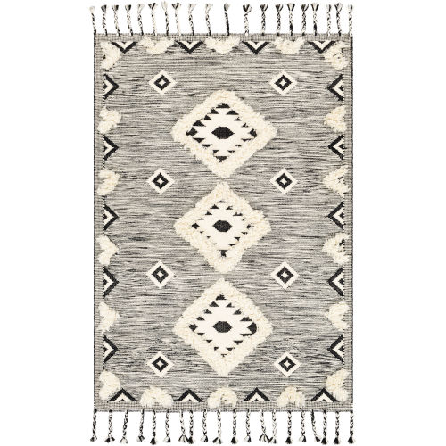 Apache Black and Cream Rectangle 3 Ft. x 5 Ft. Rugs