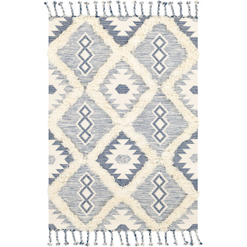 Apache Dark Blue and Cream Rectangle 2 Ft. x 3 Ft. Rugs