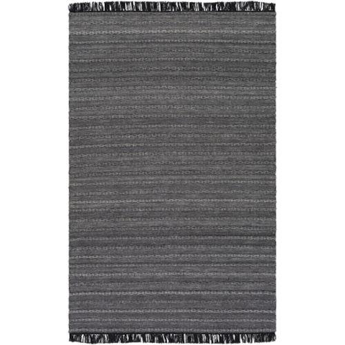Azalea Medium Gray, Black and Silver Gray Rectangular  Rug