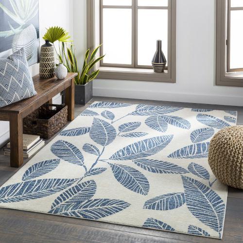 Bodrum Pale Blue Rectangular: 7 Ft. 10 In. x 10 Ft. Indoor-Outdoor Rug