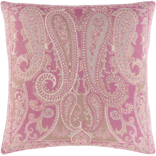 Boteh Bright Pink 20-Inch Throw Pillow