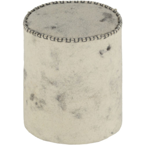 Bergen Black, Cream and Charcoal 16-Inch  Pouf