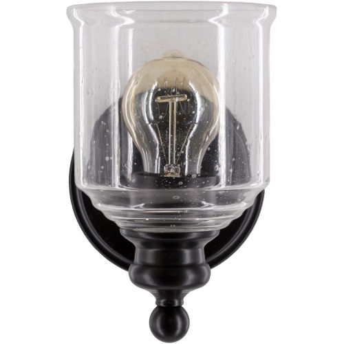 Brewer Clear and Black One-Light Wall Sconces