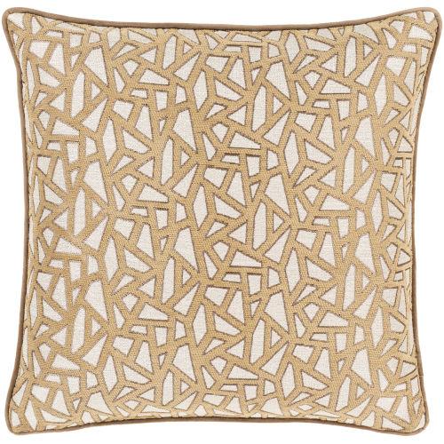 Biming Tan Throw Pillow