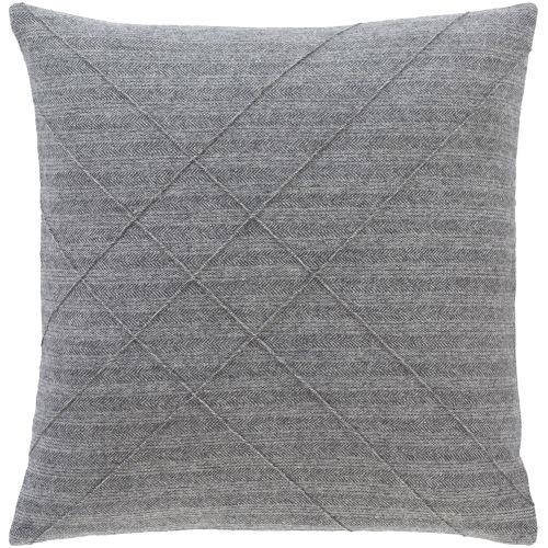 Brenley Charcoal Throw Pillow