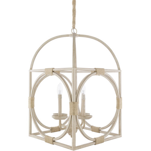 Braylee White and Black 18-Inch Four-Light Pendant