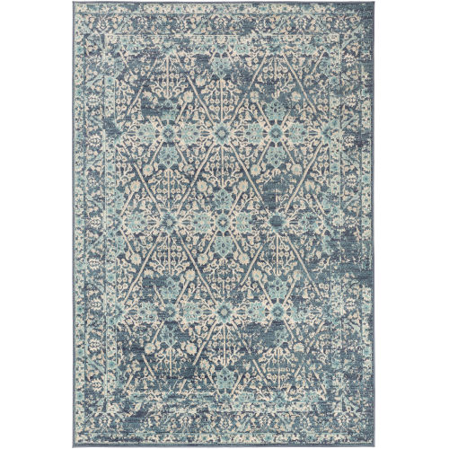City Aqua Rectangle 5 Ft. 3 In. x 7 Ft. 3 In. Rugs