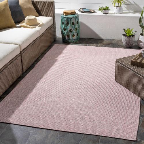 Chesapeake Bay Pale Pink Indoor-Outdoor Rug