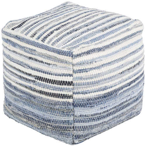 Denim Navy Pouf