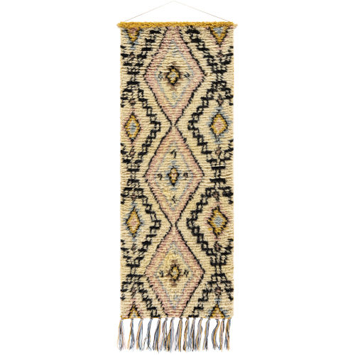 Dirham Black and Cream Wall Hanging