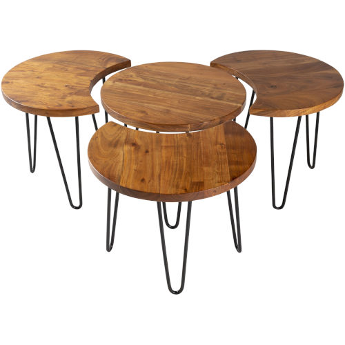 Selene Natural Accent Table Set