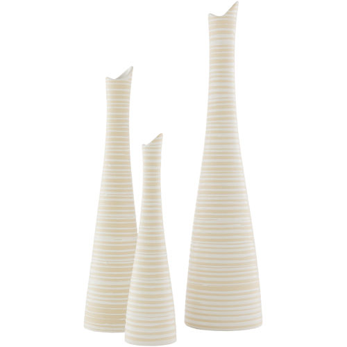 Emily White Vases, Set of 3