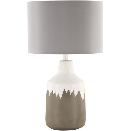 Foreman Brown and White One-Light Table Lamp